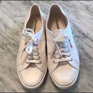 White superga sneakers size 9